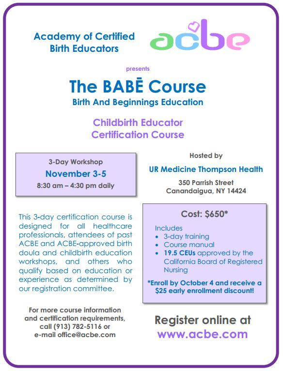 BABES Birth Education Class