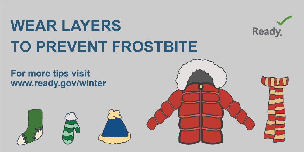 FEMA-Wear Layers To Prevent Frostbite