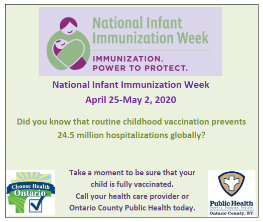 Infant Imms week 2020
