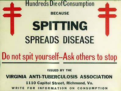 Spitting spreads disease