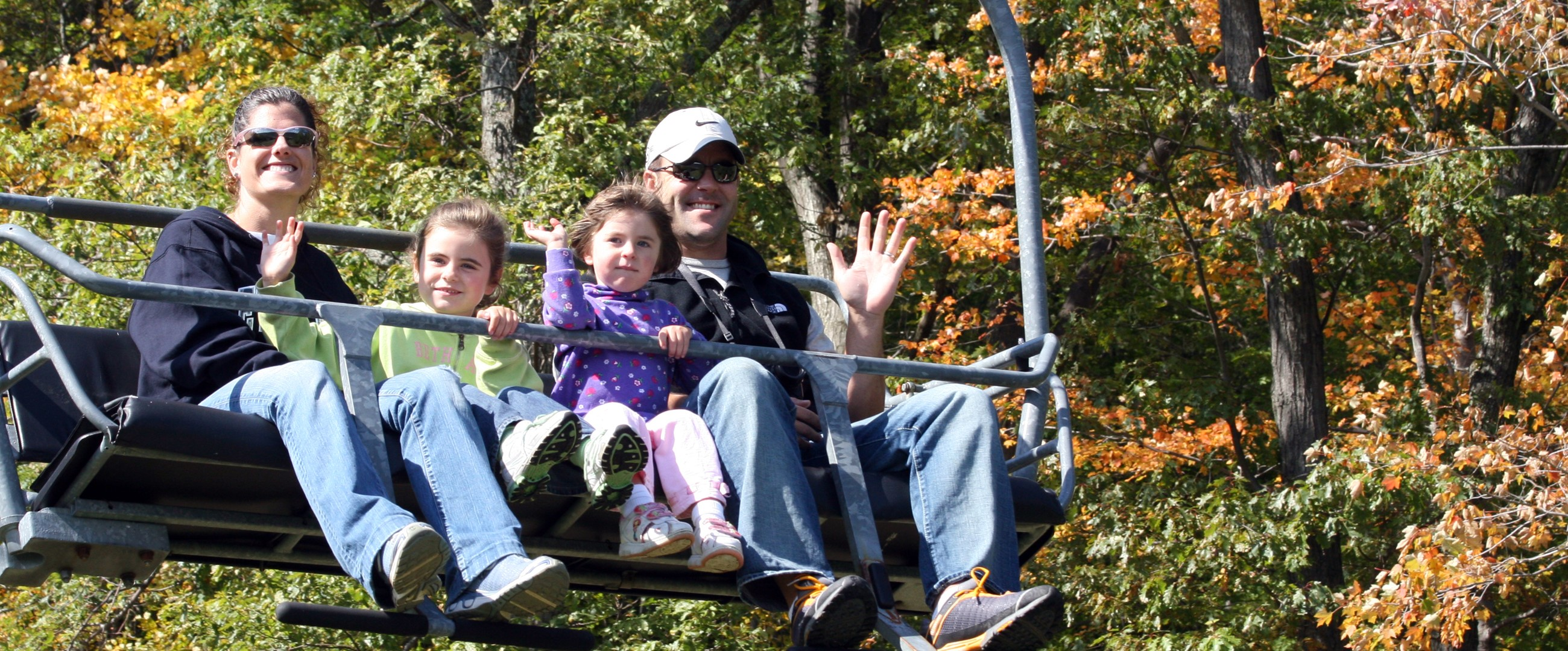 Fall Chairlift Ride - Bristol Mountain Resort