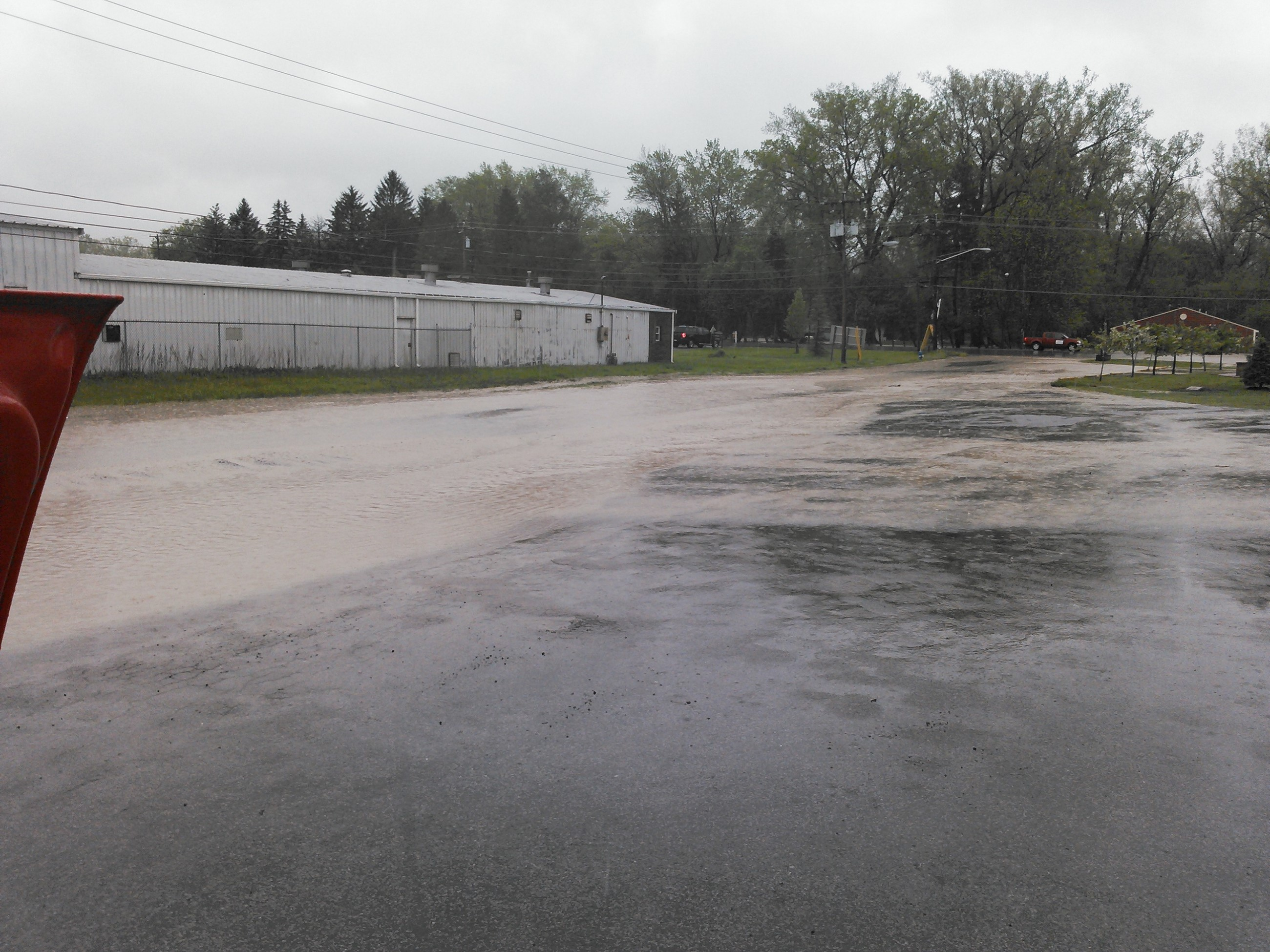Road Flooding by Honeoye Sewer Plant